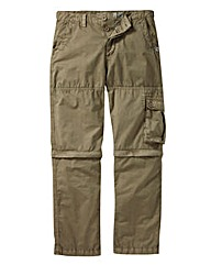 Weirdfish Zip Off Cargo Trouser Reg