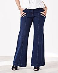 Simply Be Pixie Wide Leg Jeans Reg