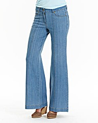 Simply Be Pixie Wide Leg Jeans Long