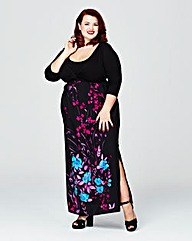 Scarlett & Jo Twist Front Maxi Dress