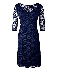 Grace Lace Sweetheart Neck Midi Dress