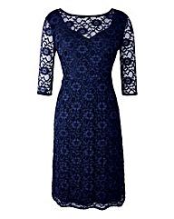 Grace Lace Sweetheart Neck Midi Dress