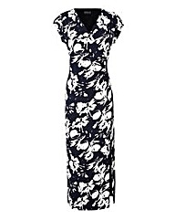 Grace Wrap Over Floral Maxi Dress
