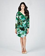 Closet Print Wrap Dress