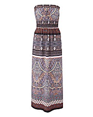AX Paris Elasticated Printed Maxi Dress