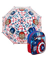 Captain America Backpack and Umbrella