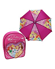 Disney Princess Backpack and Umbrella