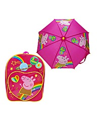 Peppa Pig Backpack and Umbrella