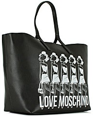 Love Moschino Black Graphic Tote Bag