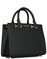 Michael Kors MK Q Mid Satchel Black