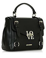 Love Moschino Black Buckle Satchel