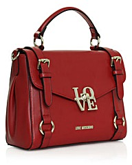 Love Moschino Burgundy Buckle Satchel
