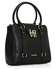 Love Moschino Black Round Handle Satchel