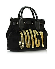 Juicy Flag Surf Rider Black Satchel