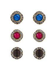 Mood Crystal stud earring set