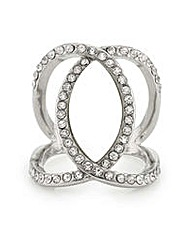 Mood Crystal cross over ring