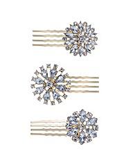 Mood Floral crystal hair combs set