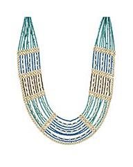 Mood Green beaded bib necklace