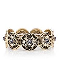 Mood Tribal coin stretch bracelet