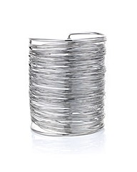 Mood Silver textured wire cuff bracelet
