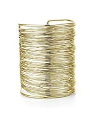 Mood Gold textured wire cuff bracelet
