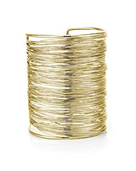 Mood Gold textured wire cuff bracelet