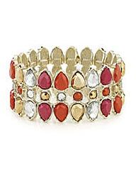 Mood Crystal navette stretch bracelet