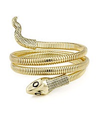 Mood Gold snake arm cuff bracelet