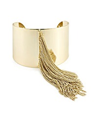 Mood Gold fringed cuff bracelet