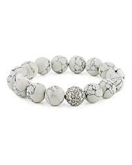 Mood Marble ball pave stretch bracelet
