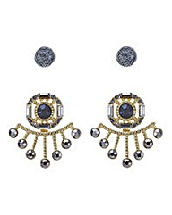 Mood Two pack statement earring set