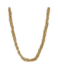 Mood Gold bead plaited twist necklace