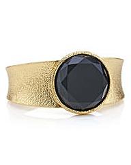 Mood Onyx round stone cuff bracelet