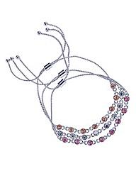 Mood Three pack crystal toggle bracelet