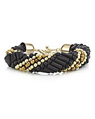 Mood Jet gold twisted tube bracelet