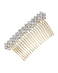Mood Large crystal cluster hair comb