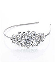 Mood Pearl crystal open leaf headband