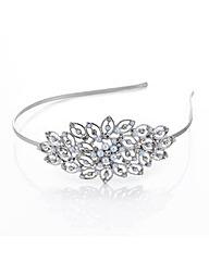 Mood Pearl crystal open leaf headband