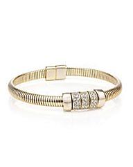 Mood Gold stretch crystal link cuff
