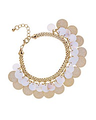 Mood Shell layered disc bracelet