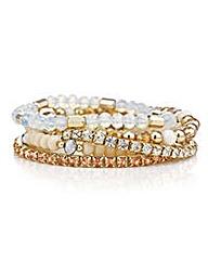Mood Bead and crystal bracelet set