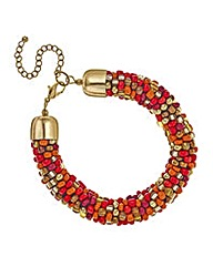 Mood Chunky beaded tribal bracelet