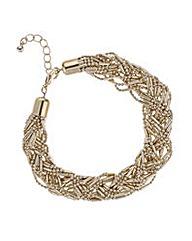 Mood Gold plaited bead bracelet