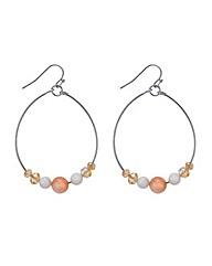 Mood Threaded bead drop earring