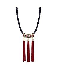 Mood Multi tassel rope necklace