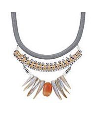 Mood Rope twist shell fan necklace