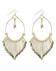 Mood Gold threaded stick drop earring