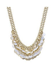 Mood Shell layered disc necklace