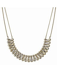 Mood Gold fan collar necklace