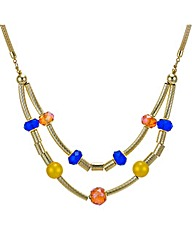 Mood Beaded tube two row necklace